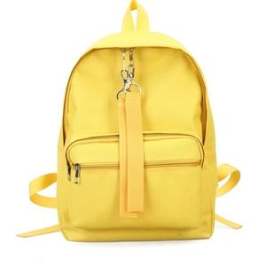 New Yellow canvas backpack
